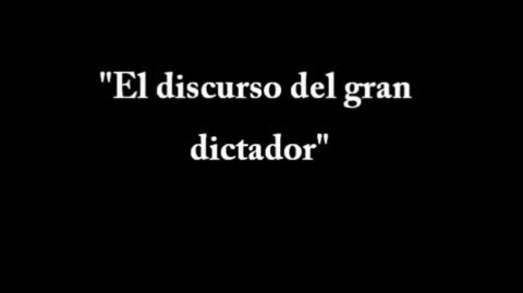 El Gran Dictador, discurso