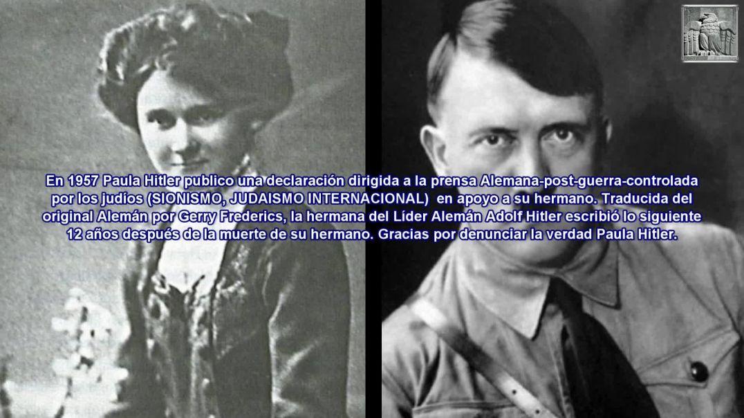 Carta de Paula Hitler a la judería internacional