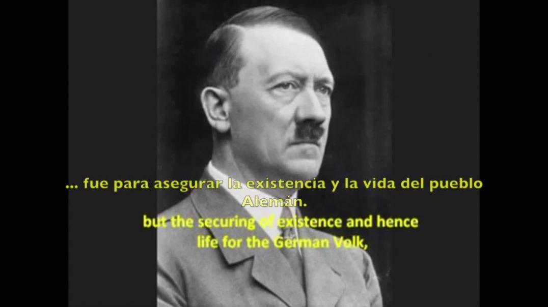 Adolf Hitler da clases de política internacional y pide la paz