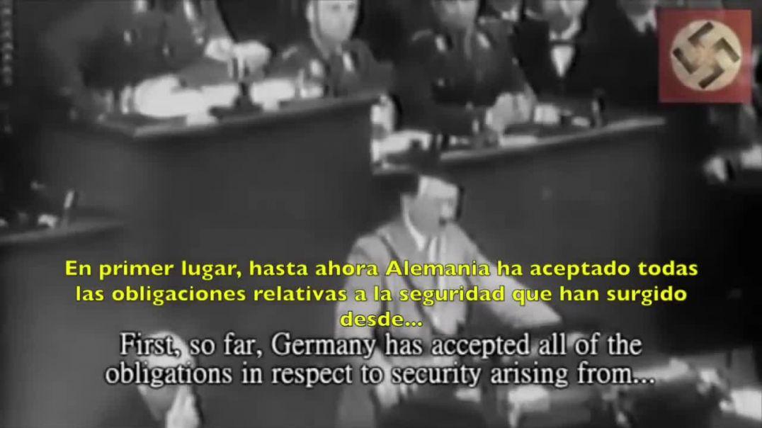 ¡Ningún hombre de Estado buscó la Paz tanto como Adolf Hitler!