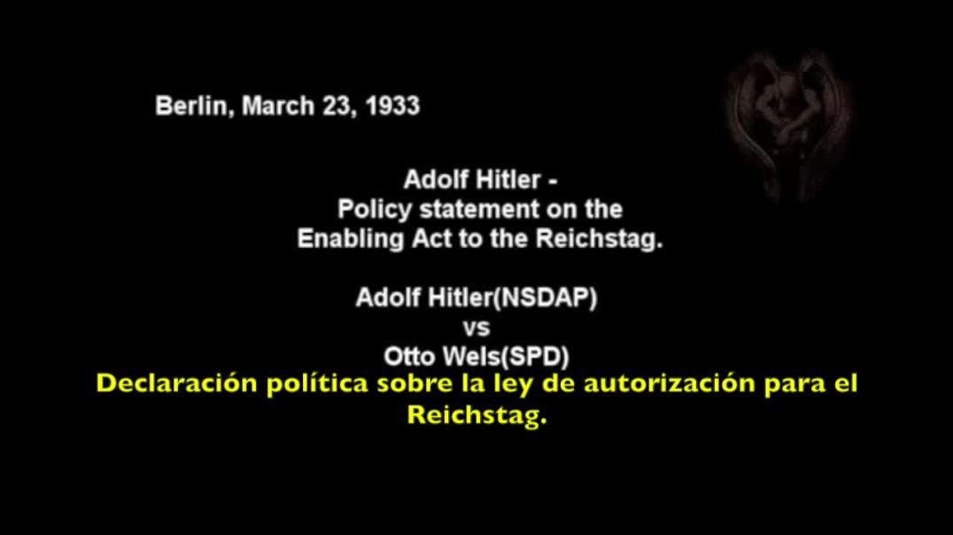 Adolf Hitler (NSDAP) VS Otto Wels (SPD)