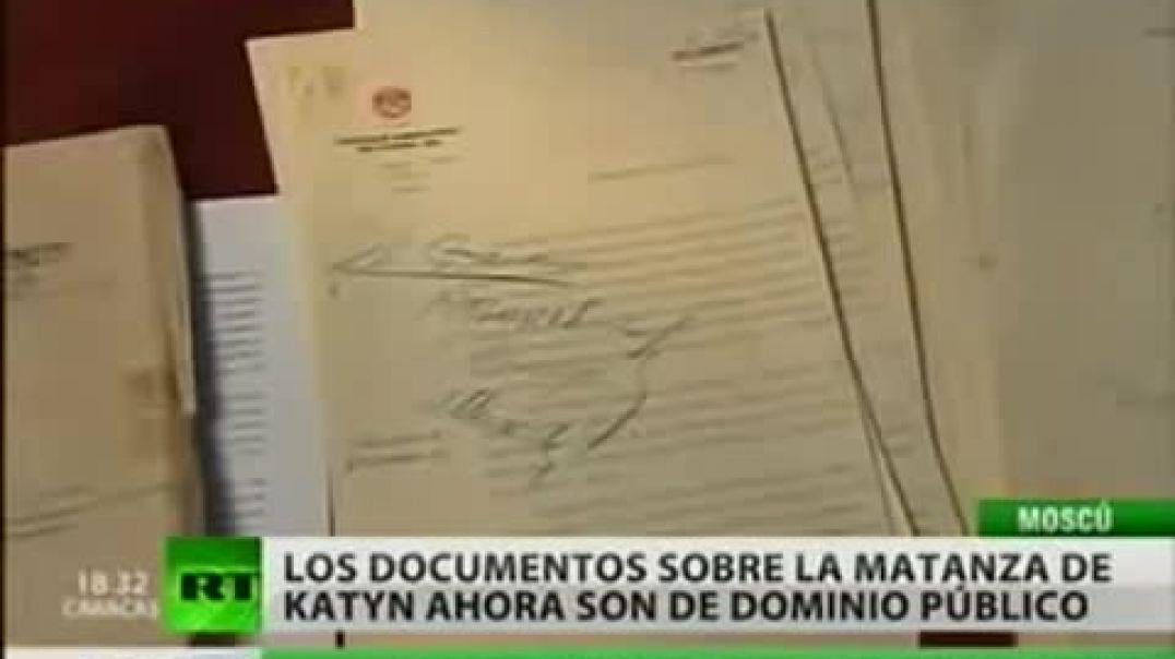 LA MATANZA DE KATYN- Pruebas oficiales y documental