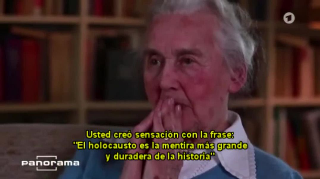 Ursula Haverbeck,  desmonta el holocausto en Tv Alemana.