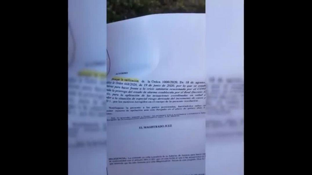 Un juez de Madrid anula la ley de usar mascarilla manteniendo la distancia