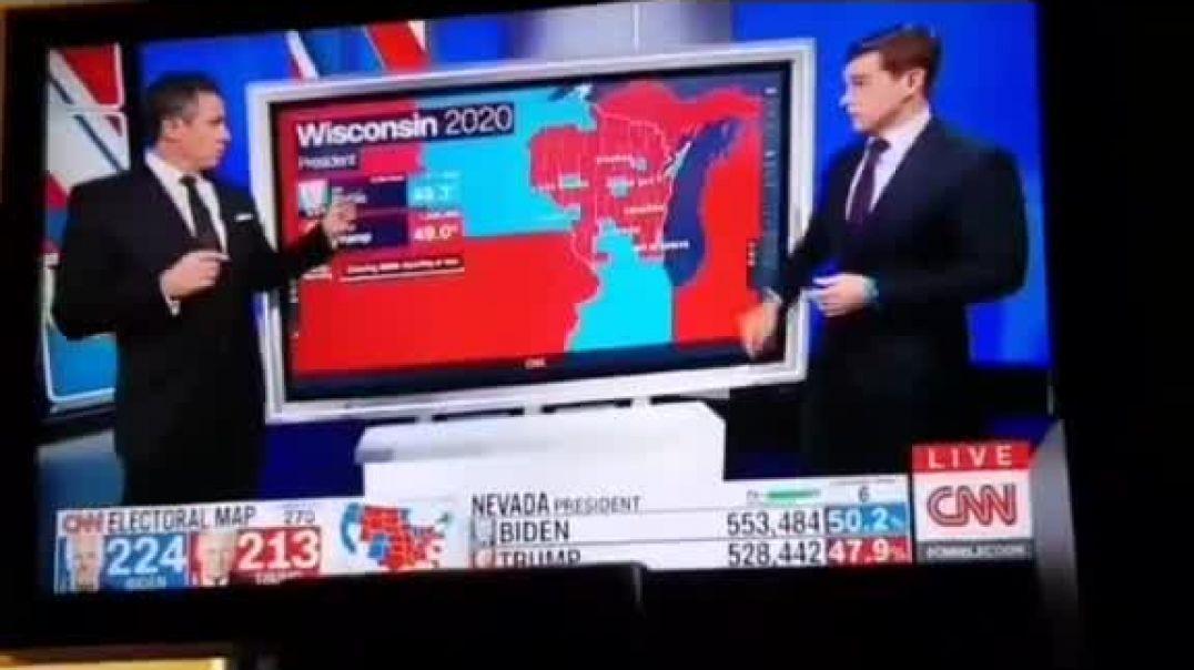 El momento exacto del fraude en Wisconsin