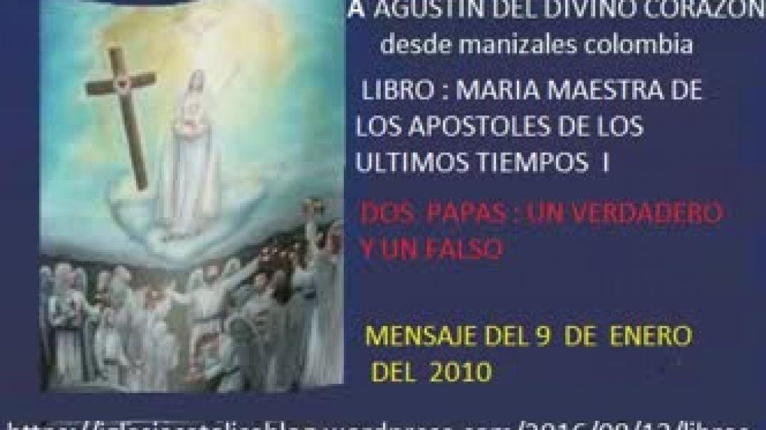 mensaje de virgen maria a agustin del divino corason - dos papas