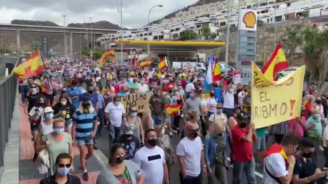 Manifestación multitudinaria en Gran Canaria