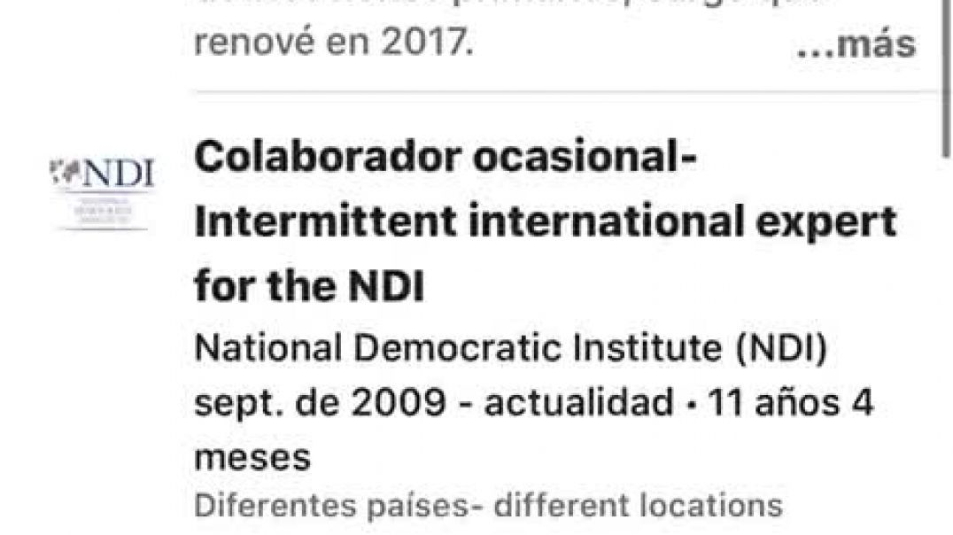 Pedro Sánchez en el National democratic Institute