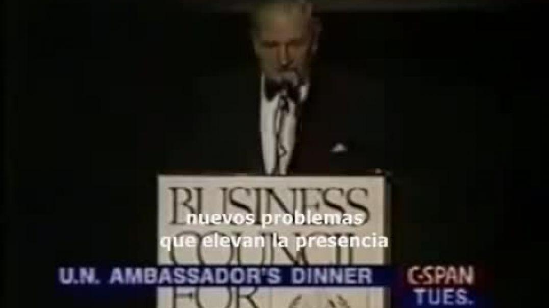 Rockefeller 1994 La ONU debe regular la poblacion mundial