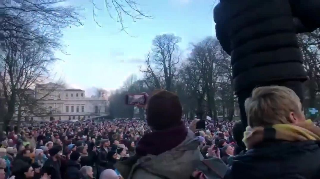Miles de manifestantes salen en Holada