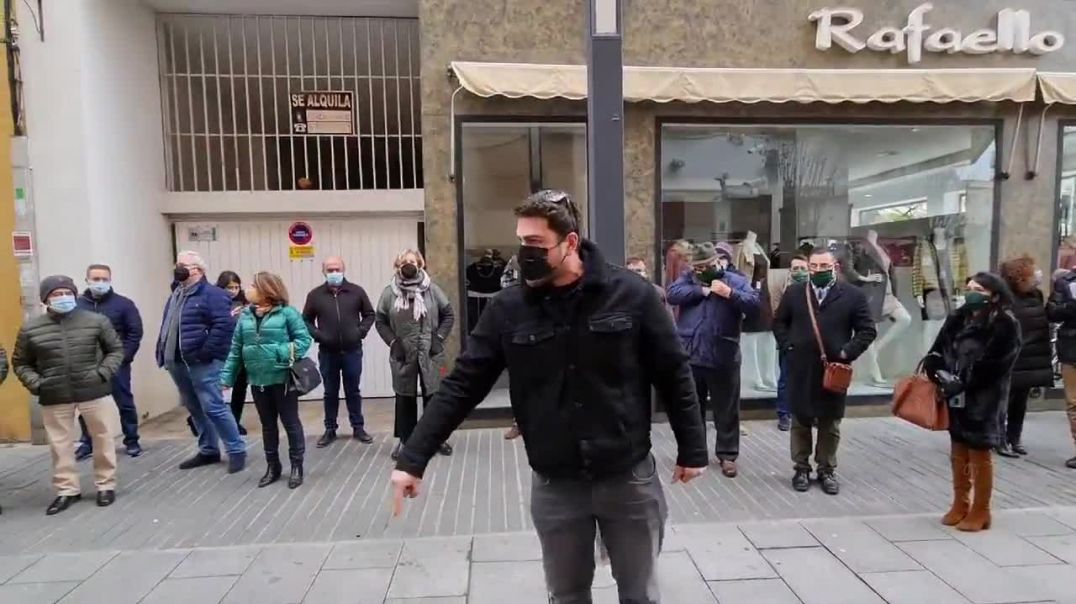 Protesta de comerciantes en Badajoz
