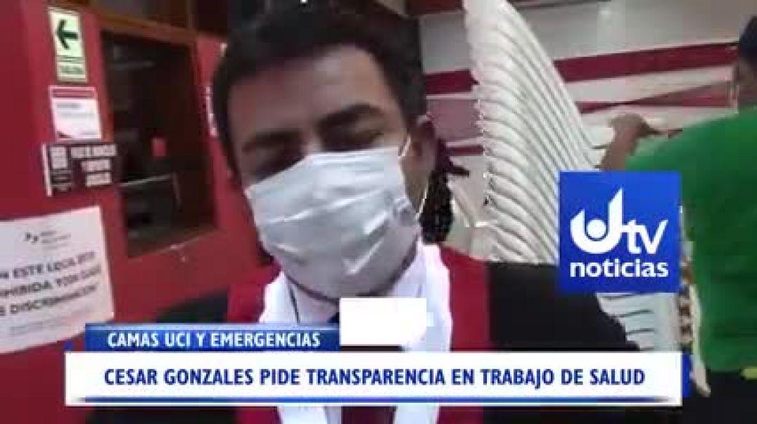 Congresista cesar Gonzáles de Perú fiscaliza hospitales y desenmascara a medios de comunicación