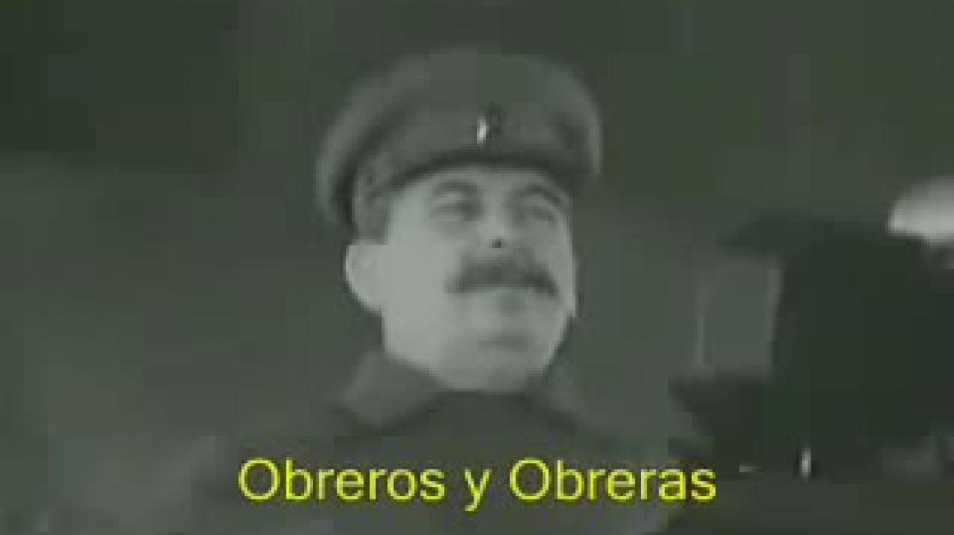 Discurso de Stalin sobre el ataque Alemán en Rusia (segunda guerra mundial)