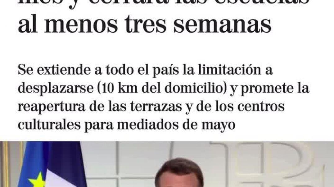 Macron, que junto a Sánchez y Merkel son las putitas de Soros