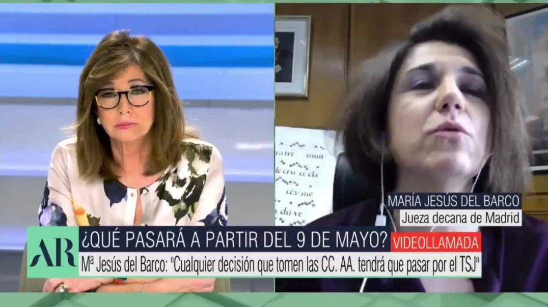 María Jesús del Barco, jueza decana de Madrid responde a Carmen Calvo
