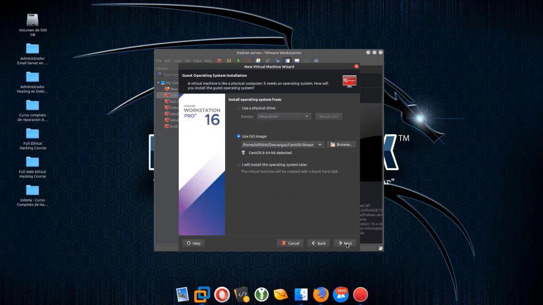 CentOS 8 Stream server version installation