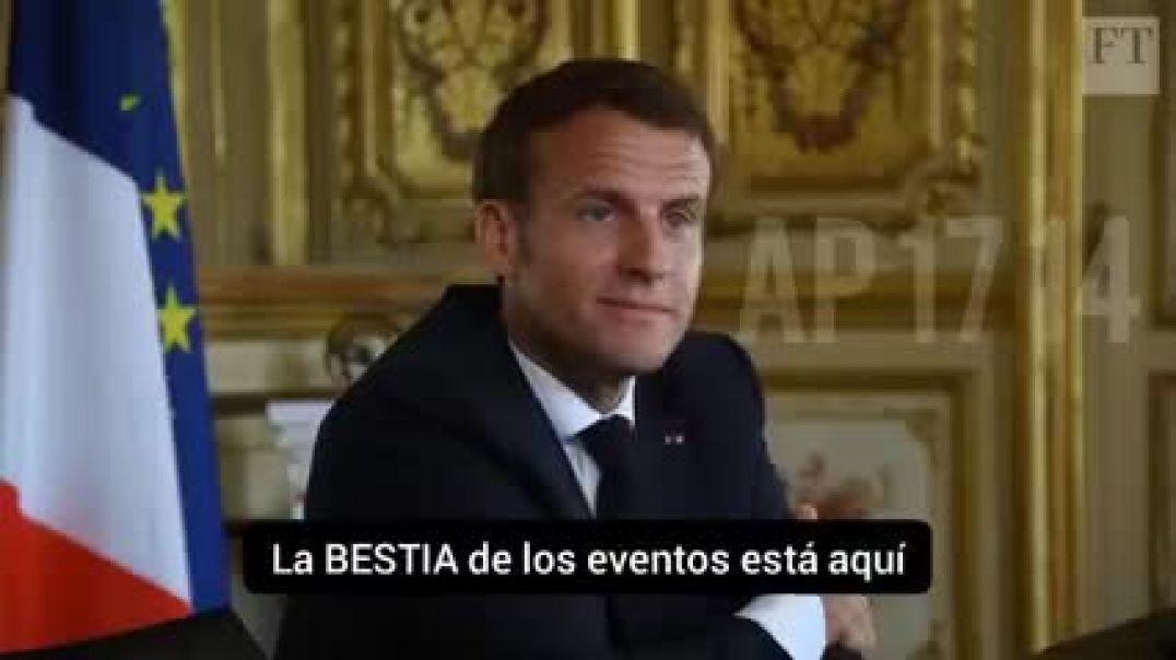 ¿Qué os parece? La Bestia ya está aquí, dice Macron