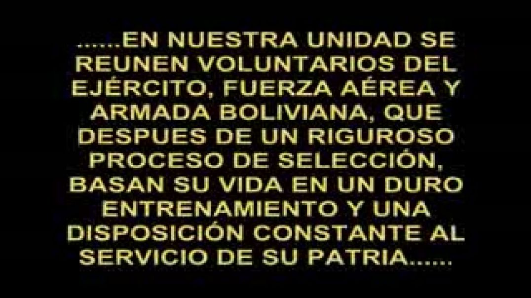 F10, la élite del ejército boliviano