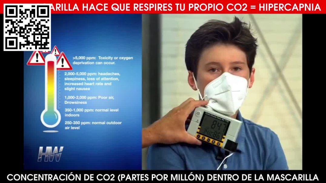Mascarilla = Respirar tu propio CO2 -