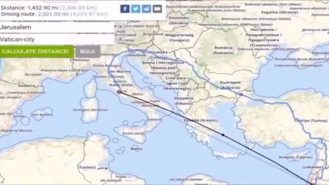 El túnel de 1500 millas desde el Vaticano a Jerusalén